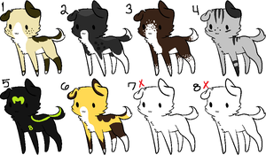 FREE Puppy Adoptables CLOSED by blackyball22