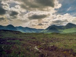 The Black Mount seen from Rannoch Moor by EyeOfTheKat