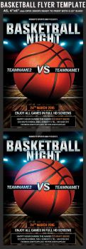 Basketball Flyer Template by Hotpindesigns