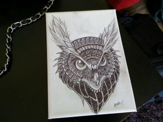 Tribal Owl by AntiCrashKitten