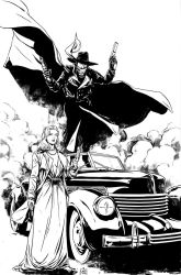 The Shadow and Margo Lane inks by MarcLaming