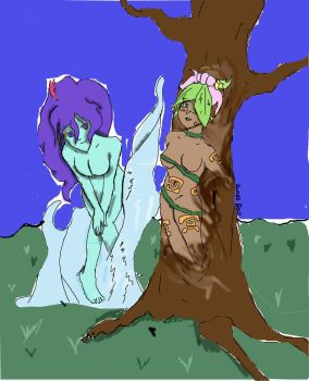 Colored Nymphs by D1gital-ZER0