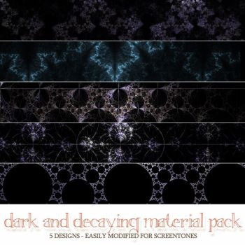 Material Pack 10-31 - Dark and Decaying by inkhana