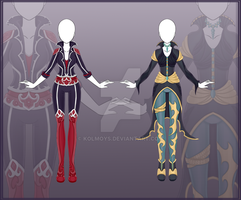 [Close] Adoptable Outfit Auction 14-15 by Kolmoys