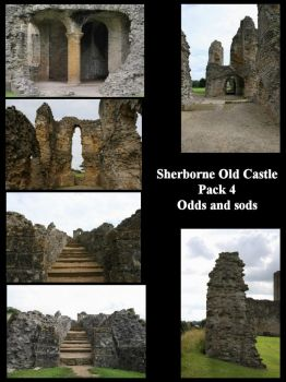 Sherborne Old Castle Pack 4 by Jabberwock-stock