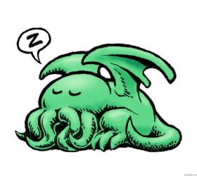 Chibi Cthulhu Fhtagn by Ackegard