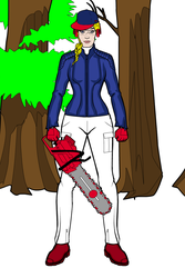 MLB Fangirl Woodcutter Cleveland Indians by Usaporkchops