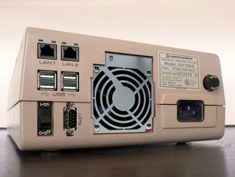 C64 - Commodore 1541-NAS back by Dawn2069MS