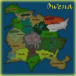 Map of Owena by Moheart7