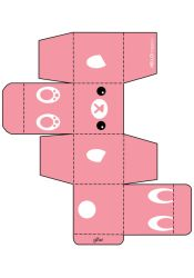 Pink Bunny Gift Box Template by hellohappycrafts