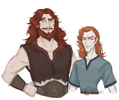 Thor and Loki by certibbs