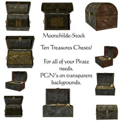Treasure Chests by Moonchilde-Stock