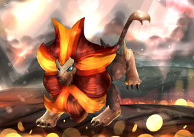 Day 190 - Kaenjishi | Pyroar (Male)