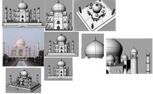 3D Taj Mahal by jamez88