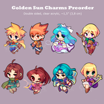 [PREORDERS] - Golden sun Charms by Nelliette