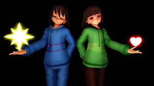 MMD- Undertale- Chara and Frisk Dreemuur by Nani-Chama