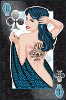 Queen of Clubs by Jeffach