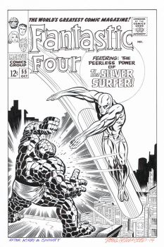 FANTASTIC FOUR #55 Cover Recreation SILVER SURFER! by DRHazlewood