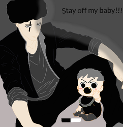 Stay off my baby!!! by Gamerrobloxian1195