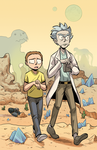 Rick and Morty Print by Noridoodle