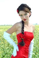 white gloves...red roses by jillein-portraits