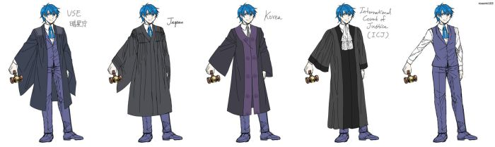 Various robes for Gallerian by rooomi103