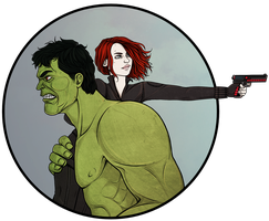 Natasha|Hulk by maryallen138