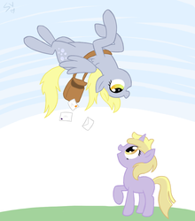 dinky and derpy by ShinyVulpix