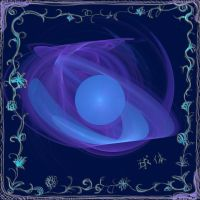 blue, sphere, apophysis by duf20