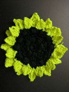 Crochet Sunflower by crazynina