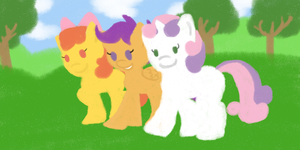Cutie Mark Crusaders Crayon  by thepiplup
