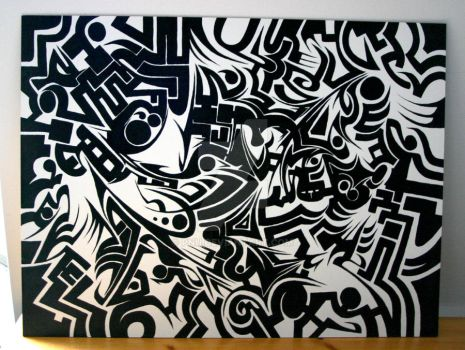 Abstract Black and White by PNu