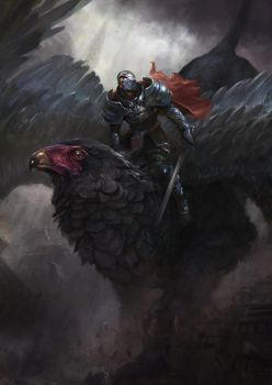 Griffin's rider by Grosnez