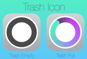 iOS 7 style Trash Icon by SkyJohn