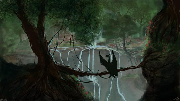 ~Rainforest speedpaint by UnicornCat