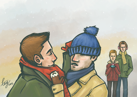 SPN: Hats and Scarves and Mittens by bollatay