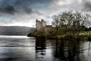 Urquart Castle, Loch Ness, UK by Gearymeister