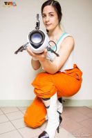 Chell cosplay - Portal by Naelia12