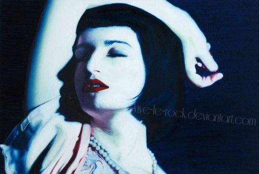 Untitled FemalePortraitIII oil by Vive-Le-Rock