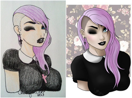 Draw This Again : Pastel Goth by grimm-doll