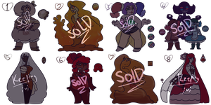 SU   Dessert Adopts Part 1/3 (Closed!) by Pioy