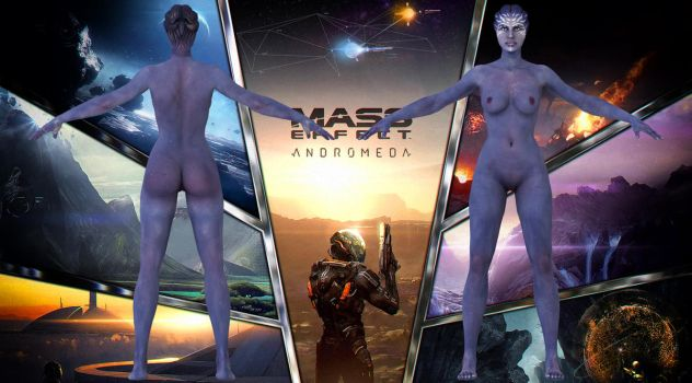 MEA: Asari nude model by g1pno