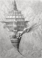 Airship V by ChrisBeckerArt