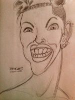 Miley Cyrus Caricature (2013 VMA) by Tedzey71