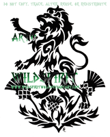 Lion And Thistles Tattoo by WildSpiritWolf