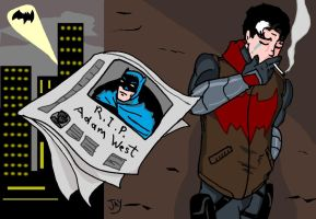 Jason finding out that we lost Adam West by Jasontodd1fan