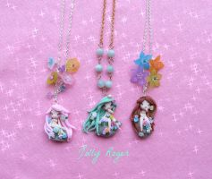 Mother of nature necklaces by Mameah