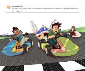 Weekly Doodles - Mario Kart by RandoWis
