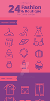 Fashion and Boutiqe Line Icon by HEVNgrafix