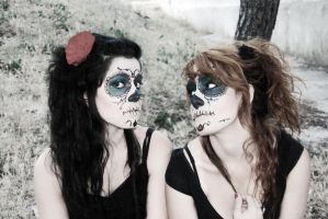 Mexican death sisters by AidaDisguise